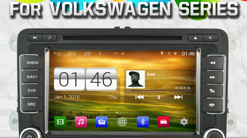 NAVIGATIE ANDROID VW Sharan 2009 SEAT WITSON W2-M305 PLATFORMA S160 QUADCORE 16GB 3G WIFI WAZE