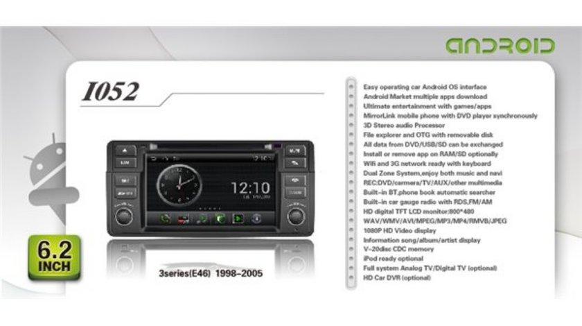 NAVIGATIE ANDROID WITSON W2-I052 DEDICATA BMW SERIA 3 E46 PLATFORMA S150 INTERNET 3G WIFI PROCESOR SAMSUNG A8 1GHZ DVR HARD INTERN CARKIT BLUETOOTH PRELUARE AGENDA TELEFONICA MIRROR LINK MODEL PREMIUM