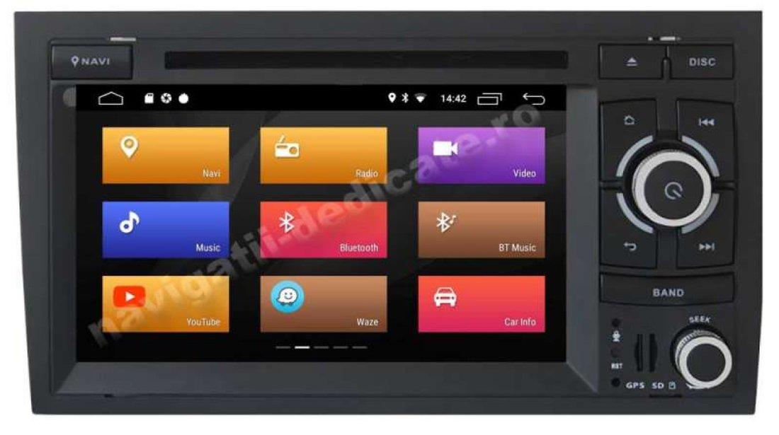 Navigatie Audi A4 B7 Seat Exeo Octa Core 2GB Ram Android 9.0 Dvd Auto Gps Carkit Internet NAVD-MT050