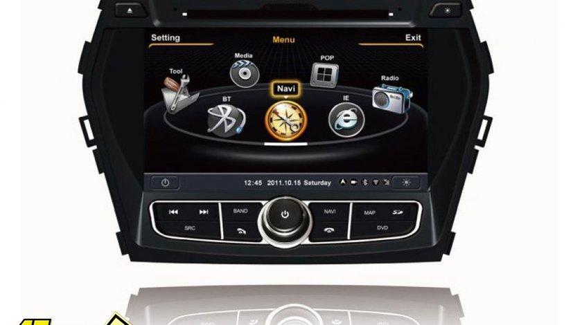Navigatie Car Pc C209 Dedicata HYUNDAI SANTA FE 2013 IX 45 Internet 3g Procesor Dual Core A8 1gmhz Dvr Hard Intern Preluare Agenda Telefonica Model Premium 2013