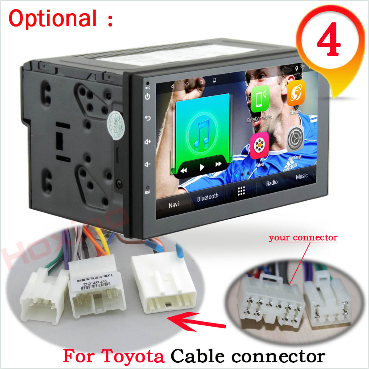 NAVIGATIE CARPAD 2DIN UNIVERSALA CU ANDROID 7.1 ECRAN 7'' CAPACITIV USB INTERNET 3G GPS WAZE DVR