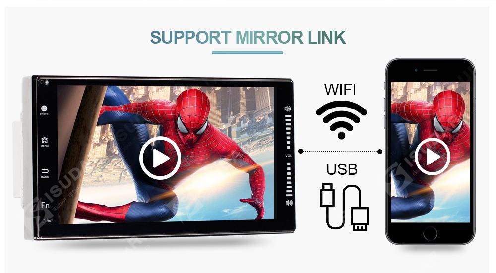 NAVIGATIE CARPAD 2DIN UNIVERSALA CU ANDROID 7.1 ECRAN 7'' CAPACITIV USB INTERNET 3G WAZE DVR GPS 2GB