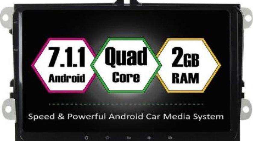 NAVIGATIE CARPAD ANDROID 7 DEDICATA Skoda Rapid NAVD-T9800 ECRAN 9'' 16GB 2GB RAM INTERNET 4G WIFi