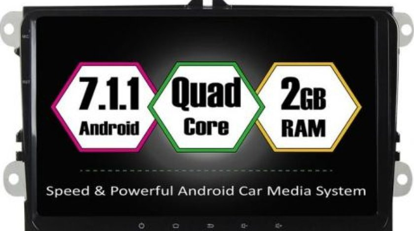 NAVIGATIE CARPAD ANDROID 7 DEDICATA VW SKODA SEAT NAVD-T9800 ECRAN 9'' 16GB 2GB RAM INTERNET 4G WIFi