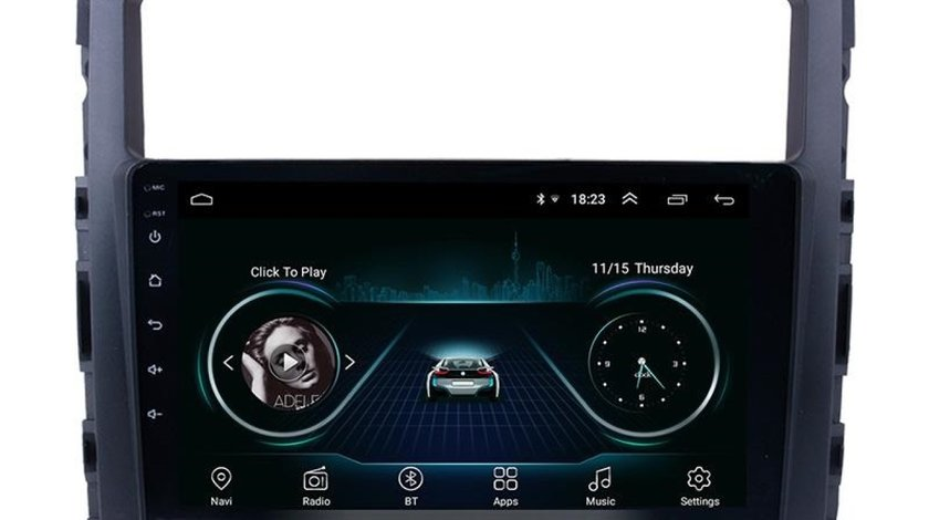 "NAVIGATIE CARPAD ANDROID 8.1 DEDICATA MITSUBISHI PAJERO ECRAN 10"" 16GB INTERNET 4G WIFI GPS WAZE"