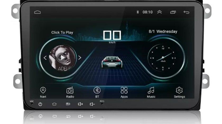 NAVIGATIE CARPAD ANDROID 8.1 DEDICATA VW SKODA SEAT ECRAN 9'' 16GB WIFI DVR GPS VAG NAV 5000 PRO