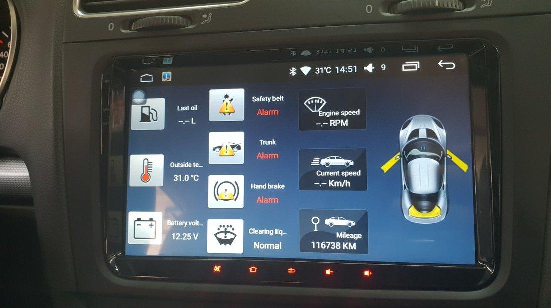 NAVIGATIE CARPAD ANDROID 8.1 DEDICATA VW SKODA SEAT NAV-D9800 9'' 16GB 2GB RAM WAZE CAMERA BONUS!