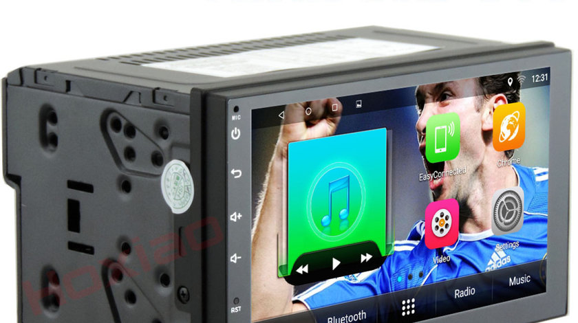 NAVIGATIE CARPAD ANDROID DEDICATA FORD FIESTA  ECRAN 7'' USB INTERNET 3G GPS WAZE COMENZI VOLAN