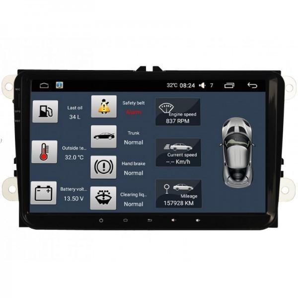NAVIGATIE CARPAD ANDROID DEDICATA VW AMAROK 2010 NAVD-MT9800 9'' 16GB 2GB RAM GPS WAZE CAMERA BONUS!
