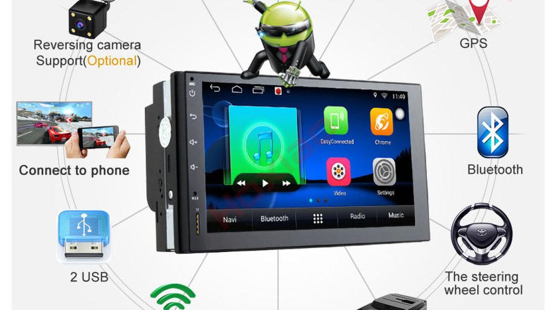 NAVIGATIE CARPAD ANDROID DEDICATA VW T4 ECRAN 7'' USB INTERNET 3G GPS WAZE COMENZI VOLAN