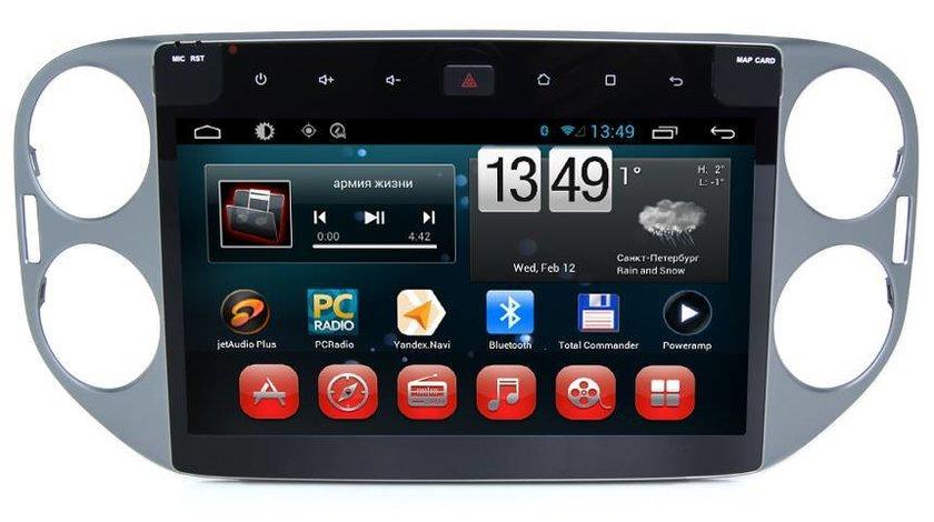 NAVIGATIE CARPAD ANDROID DEDICATA VW TIGUAN GOLF 5 PLUS ECRAN 10.1'' CAPACITIV 16GB INTERNET 3G WIFI