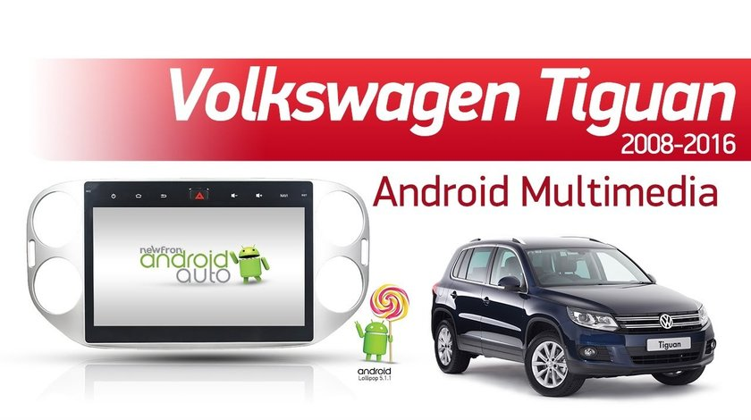 NAVIGATIE CARPAD ANDROID DEDICATA VW TIGUAN GOLF 5 PLUS ECRAN 10.1'' CAPACITIV 16GB INTERNET 3G WIFI