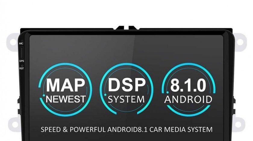 NAVIGATIE CARPAD ANDROID DEDICATA VW Tiguan NAVD-MT9800 9'' 16GB 2GB RAM GPS WAZE CAMERA BONUS!