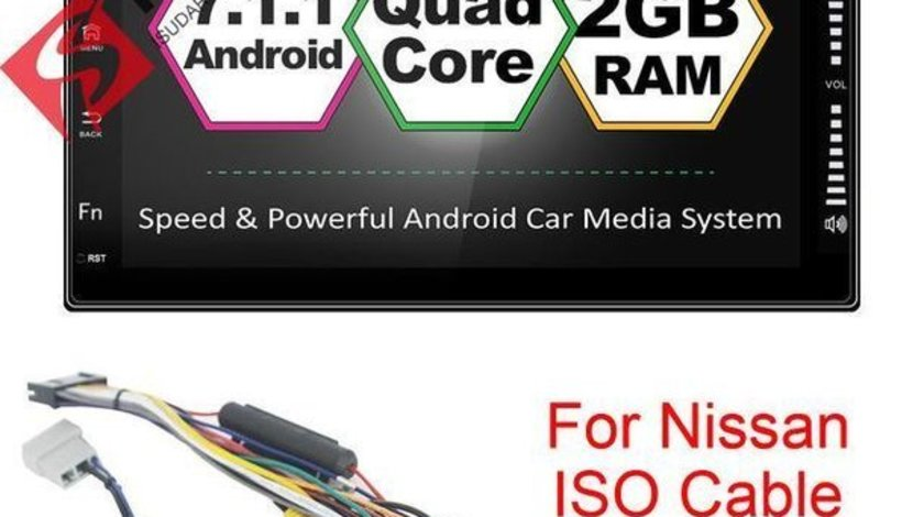 NAVIGATIE CARPAD Dedicata Nissan 350Z ANDROID 7.1 ECRAN 7'' CAPACITIV USB INTERNET 3G WAZE GPS 2GB