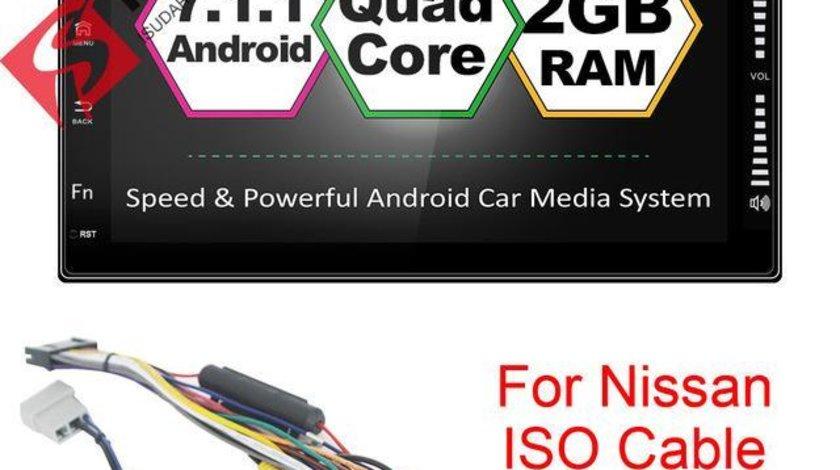 NAVIGATIE CARPAD Dedicata Nissan JUKE ANDROID 7.1 ECRAN 7'' CAPACITIV USB INTERNET 3G WAZE GPS 2GB