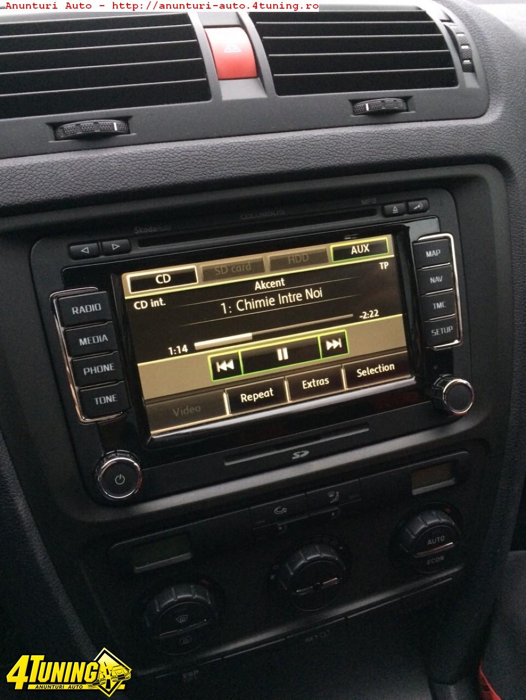 Wonderbaar Navigatie Columbus Skoda Octavia originala RNS 510 LED #225817 MV-16