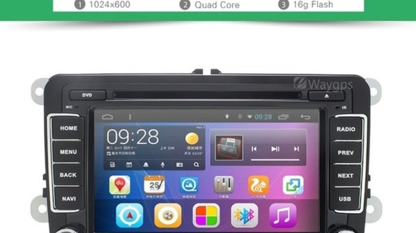 NAVIGATIE CU ANDROID DEDICATA VW Jetta EDOTEC EDT-G305 INTERNET 3G WIFI WAZE DVR DVD