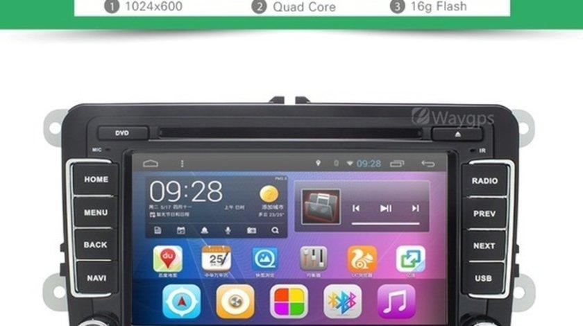 NAVIGATIE CU ANDROID DEDICATA VW Polo EDOTEC EDT-G305 INTERNET 3G WIFI WAZE DVR DVD