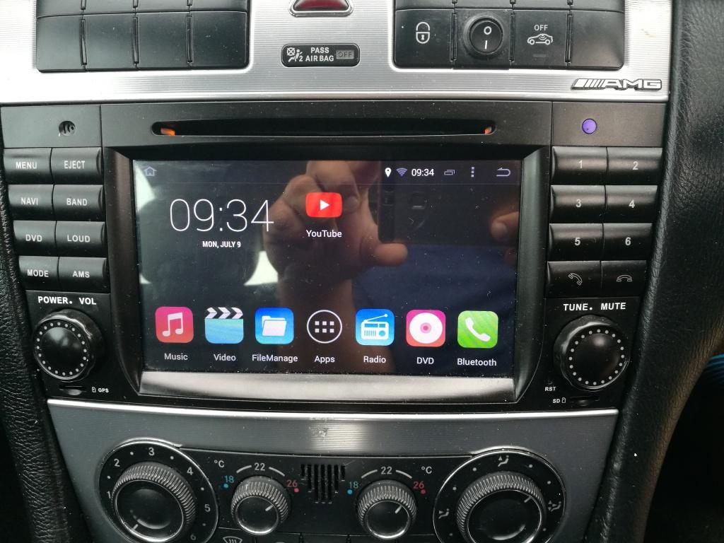 Navigatie dedicata android Mercedes c class w203 facelift