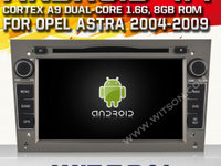 NAVIGATIE DEDICATA ANDROID OPEL ASTRA H VECTRA CORSA WITSON W2-A9828L INTERNET WIFI MIRRORLINK WAZE