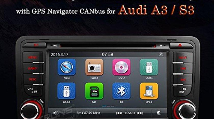 NAVIGATIE DEDICATA AUDI A3 S3 RS3 XTRONS PF72AA3GT DVD USB PLAYER GPS CARKIT BLUETOOTH