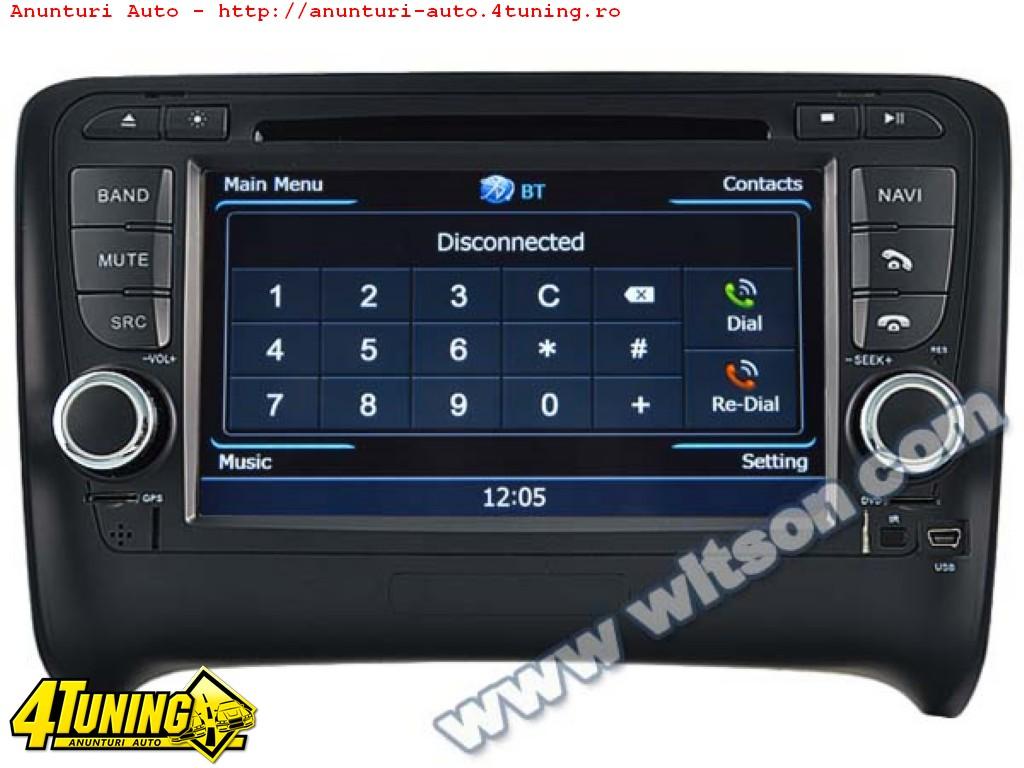 Navigatie Dedicata Audi TT Witson W2 C078 Platforma S100 Procesor Dual Core A8 1ghz 512 Ddr Dvd Gps Tv Dvr Carkit Preluare Agenda Telefonica