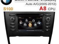 NAVIGATIE DEDICATA BMW SERIA 1 E81 E82 E83 E87 E88 WITSON W2-C170 CLIMA AUTOMATA PLATFORMA S100