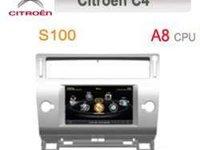 NAVIGATIE DEDICATA CITROEN C4 WITSON W2-C088 PLATFORMA S100 PROCESOR DUAL CORE A8 DVD GPS CARKIT TV