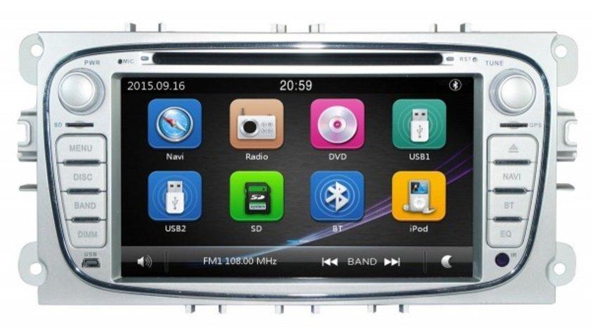 NAVIGATIE DEDICATA FORD C-MAX DVD PLAYER AUTO GPS CARKIT PRELUARE AGENDA TELEFONICA