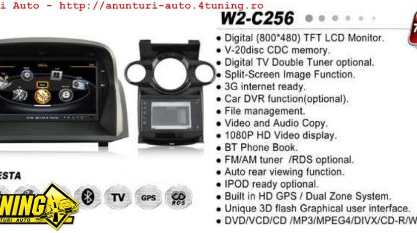NAVIGATIE DEDICATA FORD FIESTA 2014 MK7 WITSON W2 C256 PLATFORMA S100 PROCESOR DUAL CORE A8 1GHZ 512 DDR 2 DVD GPS TV DVR CARKIT PRELUARE AGENDA TELEFONICA