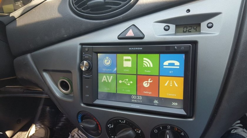 NAVIGATIE DEDICATA FORD FOCUS 1 MK1 MULTIMEDIA PLAYER MACROM M-DL5000 2DIN USB SD GPS CARKIT