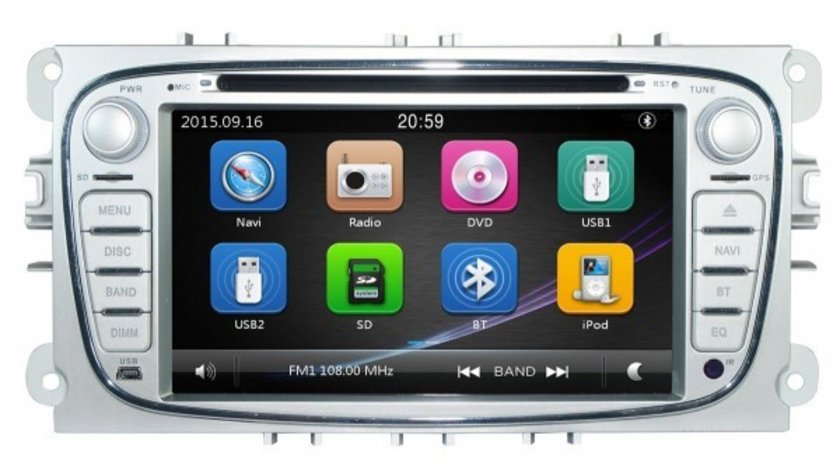 NAVIGATIE DEDICATA FORD GALAXY DVD PLAYER AUTO GPS CARKIT PRELUARE AGENDA TELEFONICA