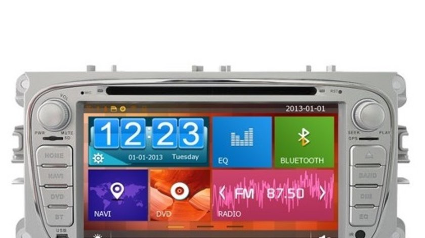 NAVIGATIE DEDICATA FORD MONDEO FOCUS 2 S-MAX GALAXY TOURNEO WITSON W2-D8457F PLATFORMA C36 WIN8 STYL