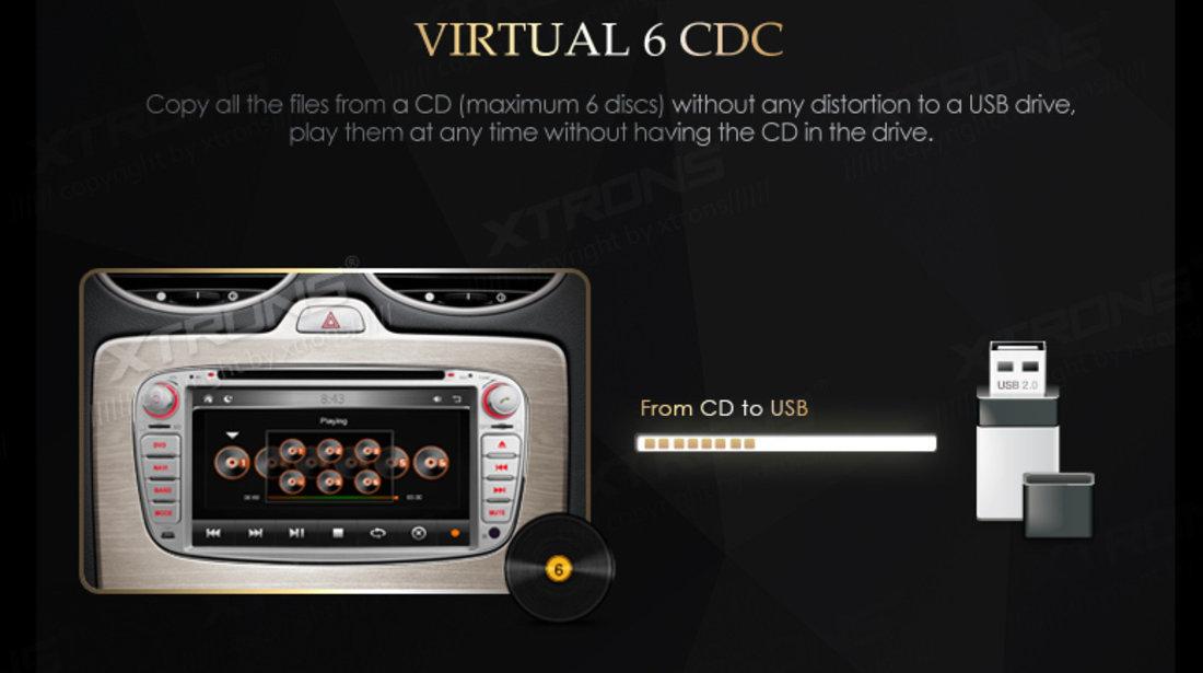 NAVIGATIE DEDICATA FORD MONDEO MK4 2007 - 2012 XTRONS PX71FSF-S DVD PLAYER GPS CARKIT 3G