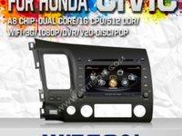 NAVIGATIE DEDICATA HONDA CIVIC SEDAN WITSON W2 C044 PLATFORMA S100 DVD GPS TV DVR CARKIT
