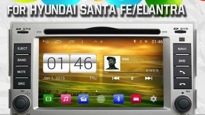 NAVIGATIE DEDICATA HYUNDAI SANTA FE MODEL WITSON W2-M008 CU ANDROID 4.4.4 PLATFORMA S160 QUADCORE 3G