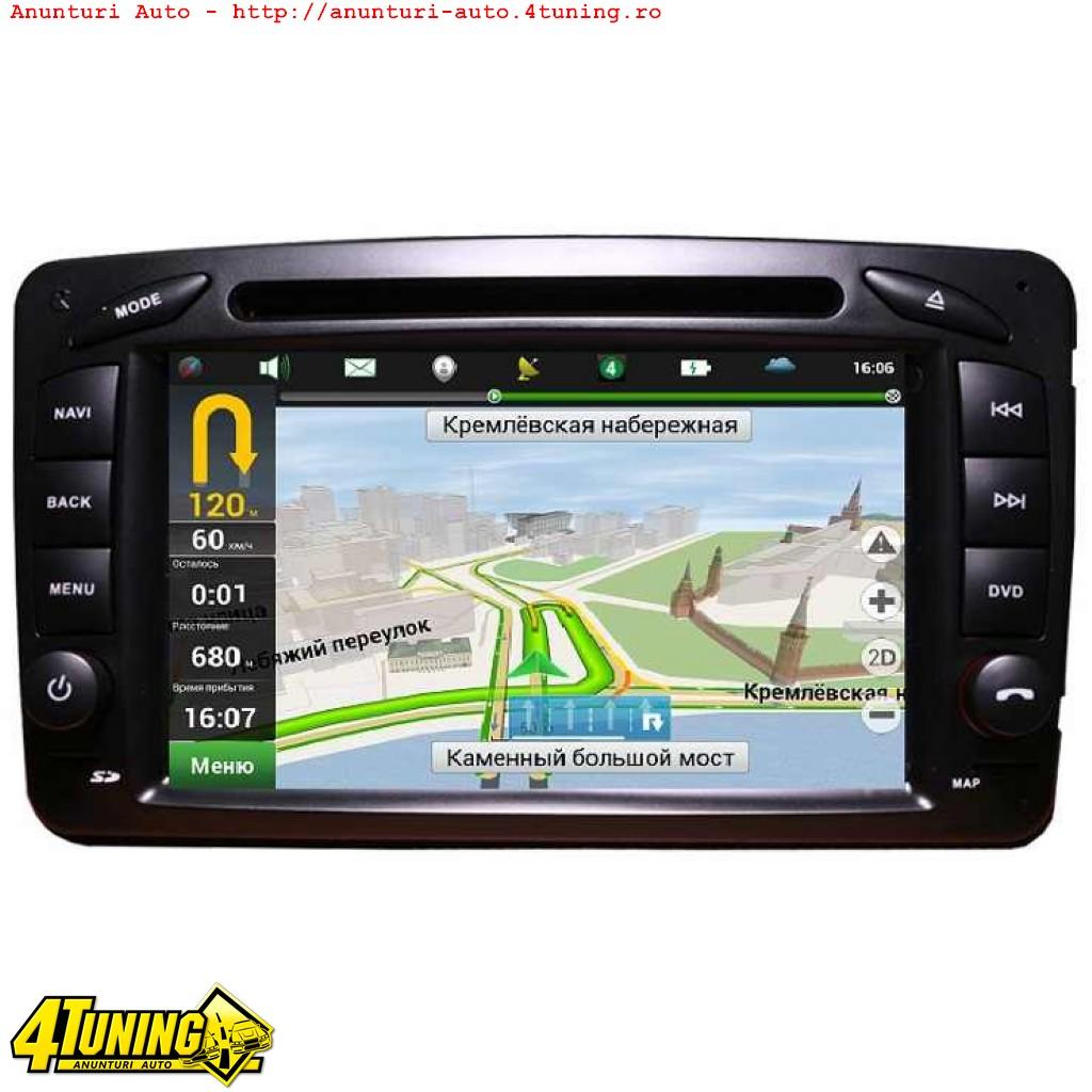 NAVIGATIE DEDICATA MERCEDES BENZ CLASA C W203 CLK VITO VIANO ANDROID EDT-G171 INTERNET 3G WIFI GPS CARKIT USB SD MIRROR LINK MODEL PREMIUM