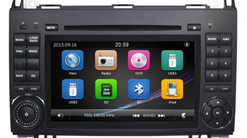 NAVIGATIE DEDICATA Mercedes Benz Viano 2006-2012 DVD PLAYER
