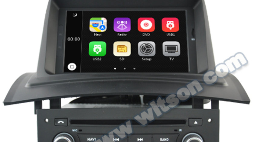 NAVIGATIE DEDICATA RENAULT MEGANE 2 WITSON W2-D6522 DVD GPS TV CARKIT PRELUARE AGENDA TELEFONICA