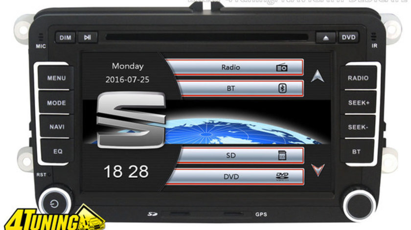 NAVIGATIE DEDICATA SEAT LEON NAVD-723V V4 DVD GPS CARKIT PRELUARE AGENDA TELEFONICA