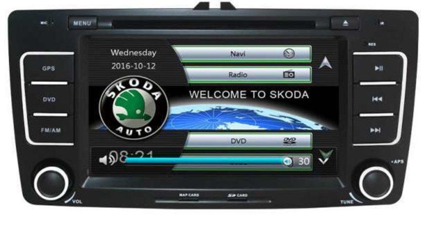 NAVIGATIE DEDICATA SKODA OCTAVIA 2 XTRONS PF710TSS MENIURI OEM DVD GPS CARKIT FARA RAMA ADAPTOARE!