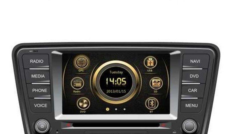 Navigatie Dedicata Skoda Octavia 3 Car Vision Dnb Gps Dvd Carkit Tv