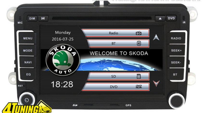 NAVIGATIE DEDICATA SKODA OCTAVIA II  NAVD-723V V4 DVD GPS CARKIT PRELUARE AGENDA TELEFONICA