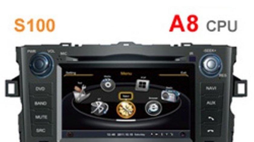 NAVIGATIE DEDICATA TOYOTA AURIS 2007 2012 PLATFORMA S100 WITSON W2-C028 DVD GPS TV DVR CARKIT