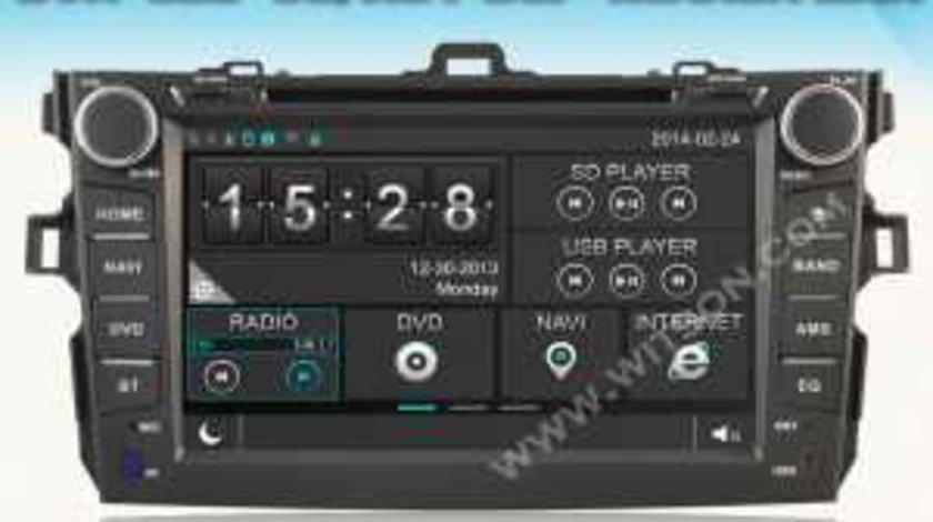 NAVIGATIE DEDICATA TOYOTA COROLLA 2007 - 2012 WITSON W2-D8124T PLATFORMA C36 DVD GPS CARKIT 3G USB