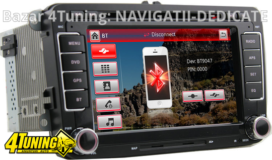 NAVIGATIE DEDICATA VOLKSWAGEN GOLF MK 6 NAVD-723V V4 DVD GPS CARKIT PRELUARE AGENDA TELEFONICA