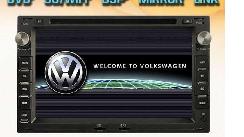 NAVIGATIE DEDICATA VW FOX WITSON W2-E8229V DVD PLAYER GPS CARKIT DVR