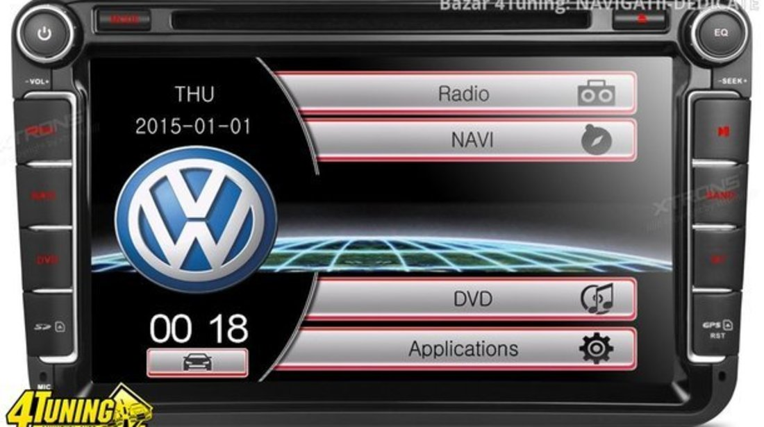 NAVIGATIE DEDICATA VW POLO XTRONS PF81MTVS DVD PLAYER GPS TV CARKIT