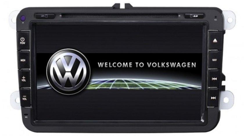 NAVIGATIE DEDICATA VW SKODA SEAT ANS810 ECRAN 8'' CARKIT PRELUARE AGENDA TELEFONICA AFISAJ IPAS OBC