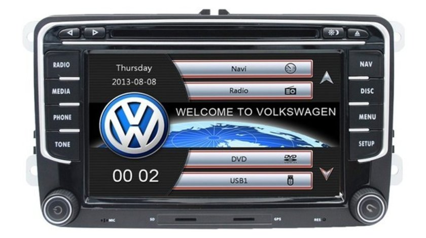 Navigatie Dedicata VW Tiguan Dvd Carkit Usb NAVD-723V V5 Camera Video De Marsarier Cadou!